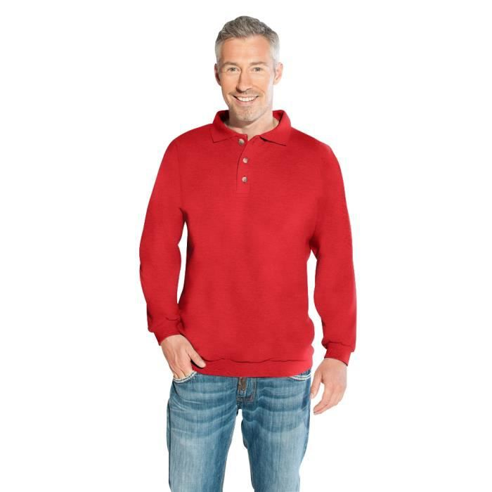 sweat col polo homme rouge feu rouge achat vente sweatshirt cdiscount. Black Bedroom Furniture Sets. Home Design Ideas