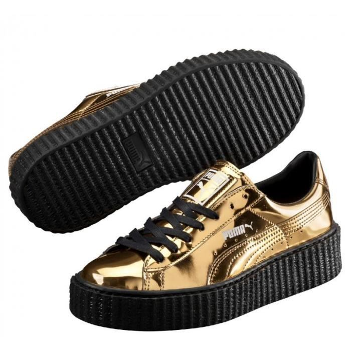 Baskets Puma Platform Gold Black 362339_04 femm...