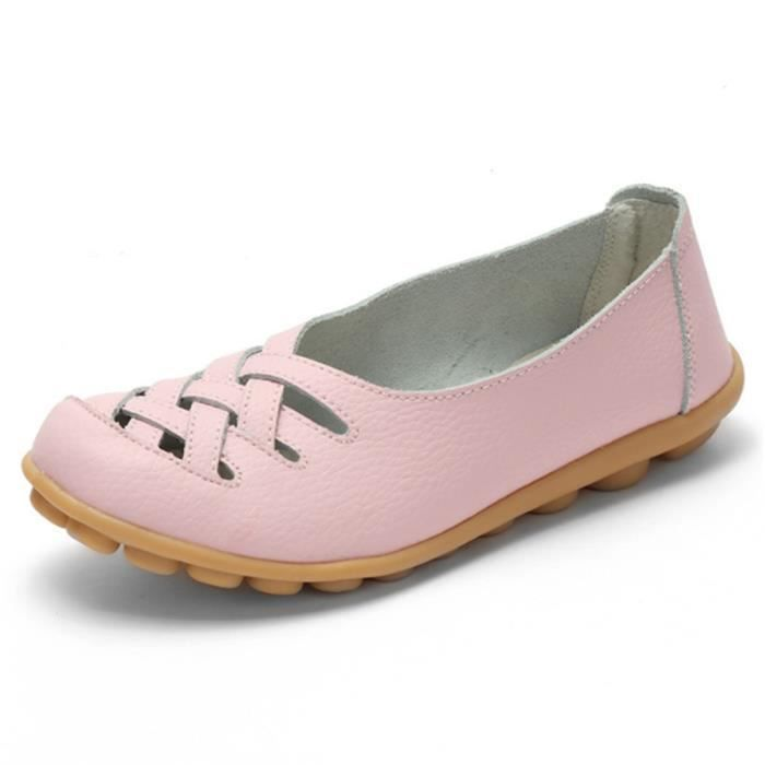 Chaussures Femmes ete Loafer Ultra Leger plate Chaussures CHT-XZ053Rose40
