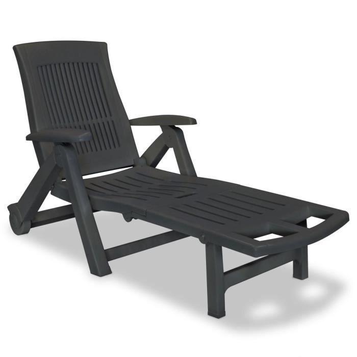 Chaise longue de jardin en plastique