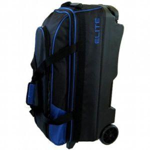 SAC BOWLING Elite Basic Triple Roller Blue Bowling Bag 1IJ9F7