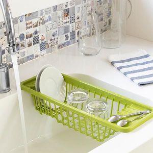 Bleu UPKOCH Range-couverts de cuisine avec couvercle /égouttoir en plastique pour ustensiles de cuisine M bleu