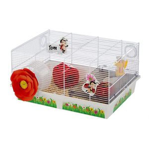 COUVRE-CAGE - PERCHOIR Ferplast cage pour hamsters LADY BUG, maisonnette