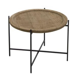 TABLE D'APPOINT Home Decor - Table Auxiliaire Ronde Colonial 54 cm