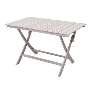 Table de jardin pliante en acacia gris FSC SILVERWOOD ...