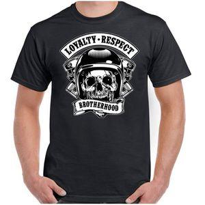 T-SHIRT Détails sur Loyalty Respect Brotherhood T-shirt Bi