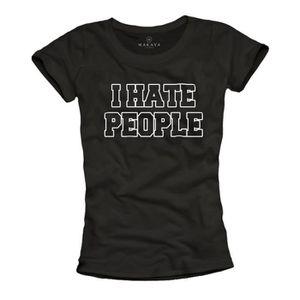 T-SHIRT Marque Makaya - Tee Shirt avec Message Humoristiqu