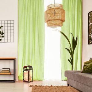VOILAGE Voilage Premium Coton - 110 x 250 cm - Vert