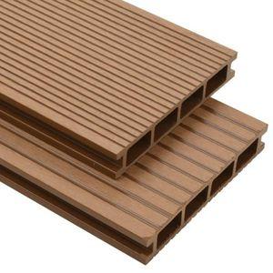CLÔTURE - GRILLAGE Panneaux de terrasse creux - accessoires WPC 40 m²