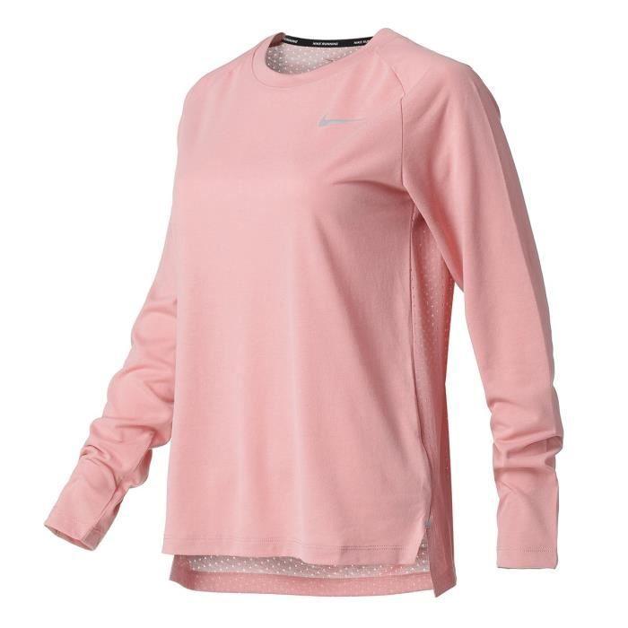 NIKE T-shirt de running Tailwind - Femme - Rose