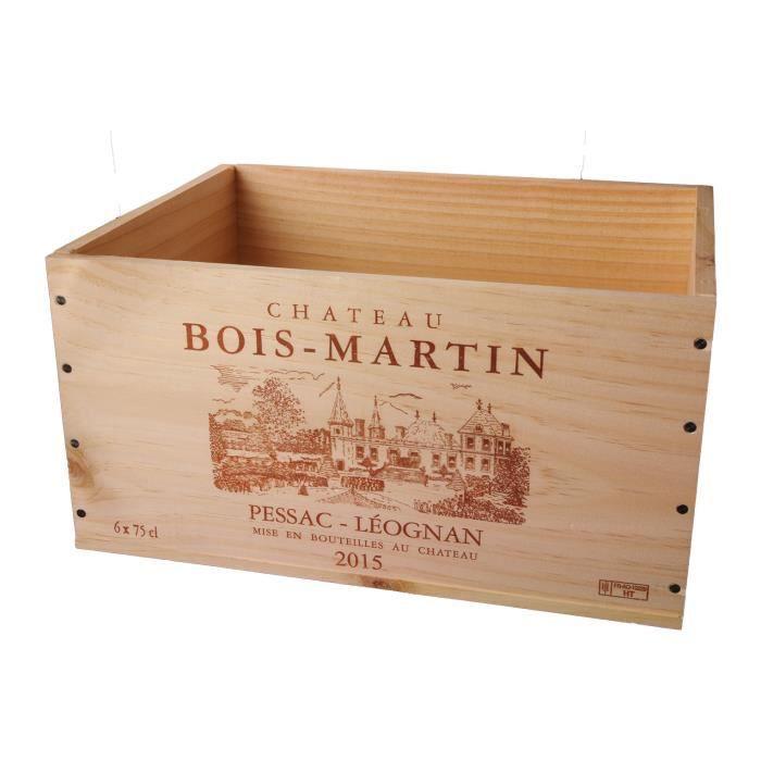 La Caisse Bois 6x75cl estampillé Château Bois-Martin - coffret