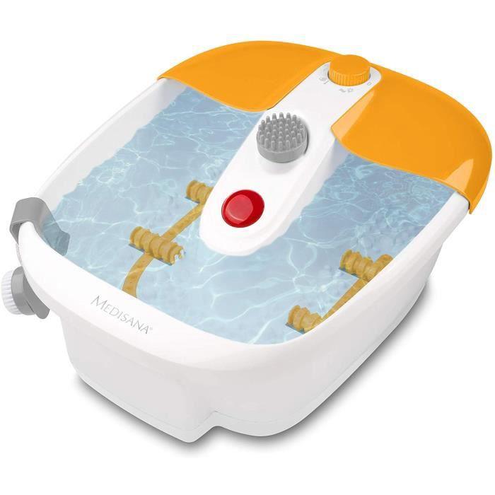 Medisana FS 883 bain à remous pour les pieds avec réflexologie plantaire - bain de pieds électrique, fonction chauffante, massage pa