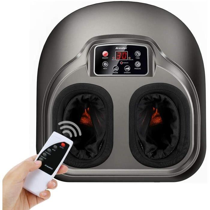 Appareil Massage Pied, AREALER Massage Shiatsu Electrique Masseur Chauffant Equiper la Télécommande Massager Pétrissage Profond & Pr