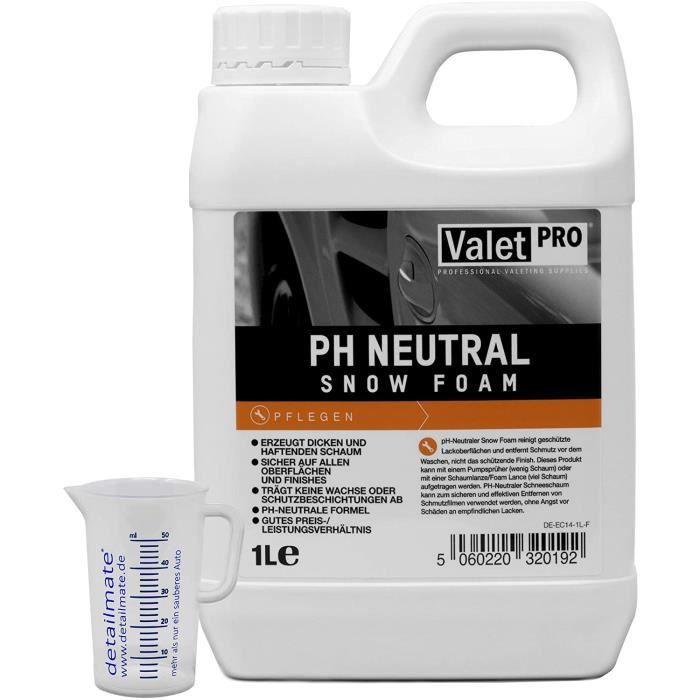 Mousse de neige ValetPRO - Ph neutre - 1 l - Pour spray de lavage auto + 1 gobelet doseur de 50 ml - Par detailmate