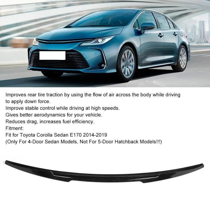 Becquet De Couvercle De Coffre Arrière Kick Haut Noir Brillant Pour M4 Style Adapte Pour Toyota Corolla Sedan E170 2014‑2019 -NIM