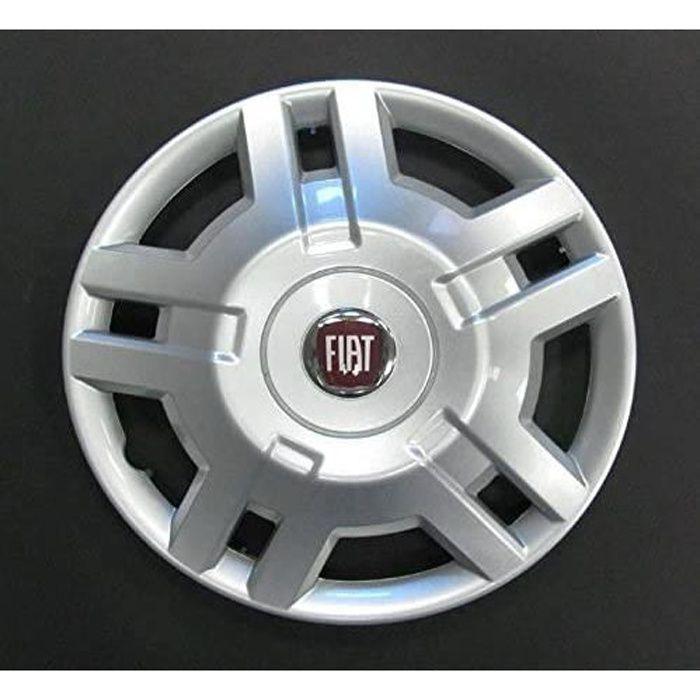 Lot de 4 Enjoliveurs Enjoliveur Boutons Clous de voiture Coupes Rivets Roue Fiat Ducato r 15 depuis 2009 (Sc 763) Logo Rouge