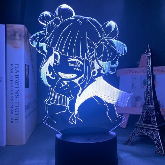 16 couleur avec télécommande - Lampe Led Himiko Toga, Anime My Hero Academia, veilleuse pour chambre à couche