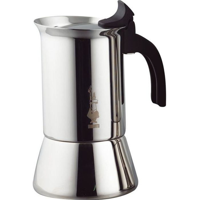 BIALETTI Cafetière INOX 10 Tasses VENUS INDUCTION