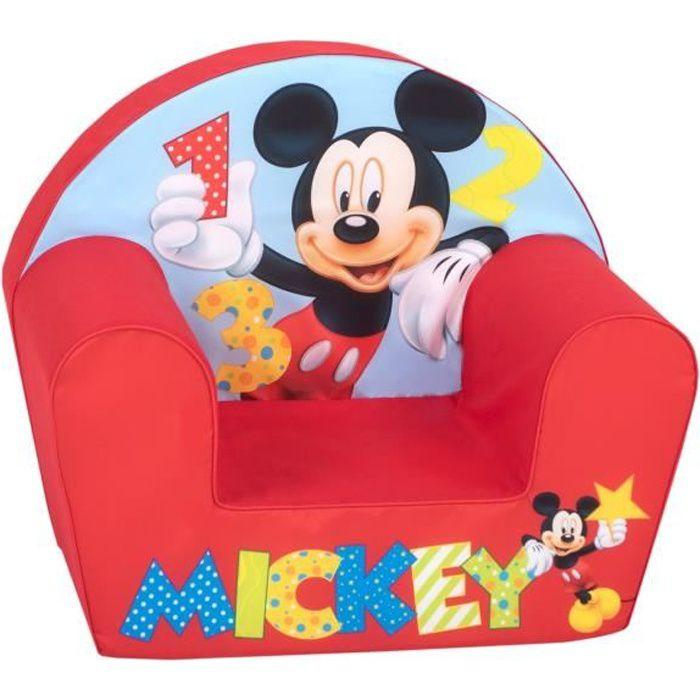 MICKEY Fauteuil Club Bébé Rouge -Disney Baby