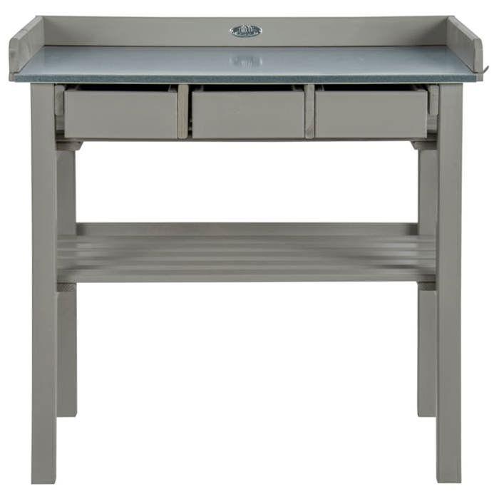 Table de rempotage grise Esschert Design CF29G