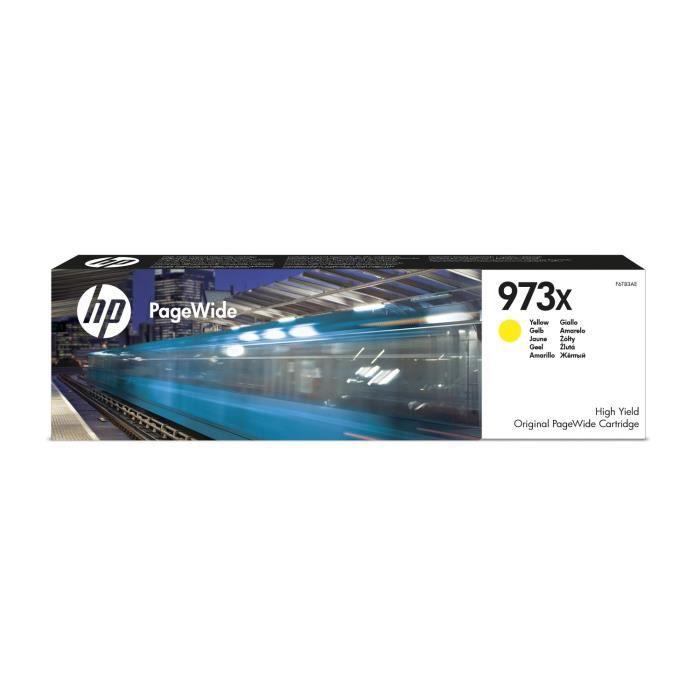 HP 973X cartouche d'encre jaune PageWide grande capacité authentique pour HP PageWide Pro 452/477/552/577 (F6T83AE)