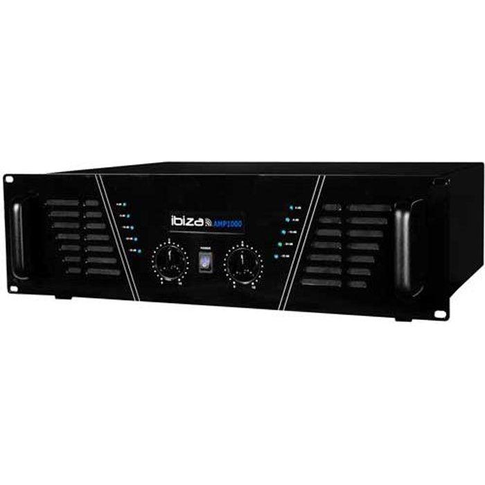 Amplificateur sono 2 x 800 W Max AMP-1000-S