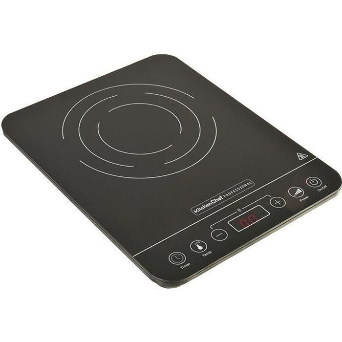KITCHEN CHEF KCYL-20K68 Plaque de cuisson induction 1 foyer - Noir