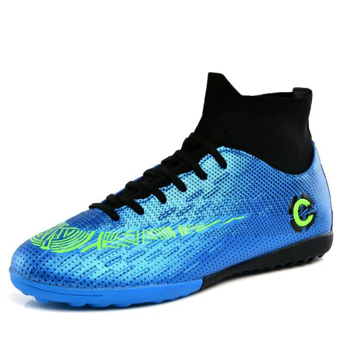 Chaussures de Football pour Hommes Chaussures de Football MG Chaussures à Jambe Haute de Sport Chaussures de Football A Talon Haut