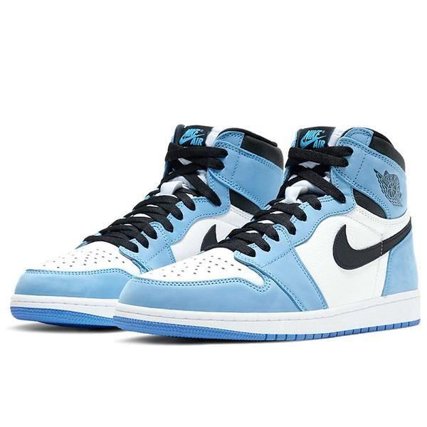 Air Jordans 1 High OG -University Blue- Chaussures de Courses pour Femme Homme Bleu Blanc