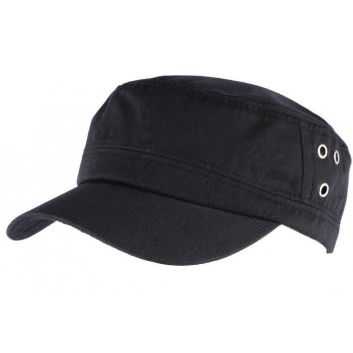 Casquette militaire Noire Koss Nyls Création - Noir - Taille unique