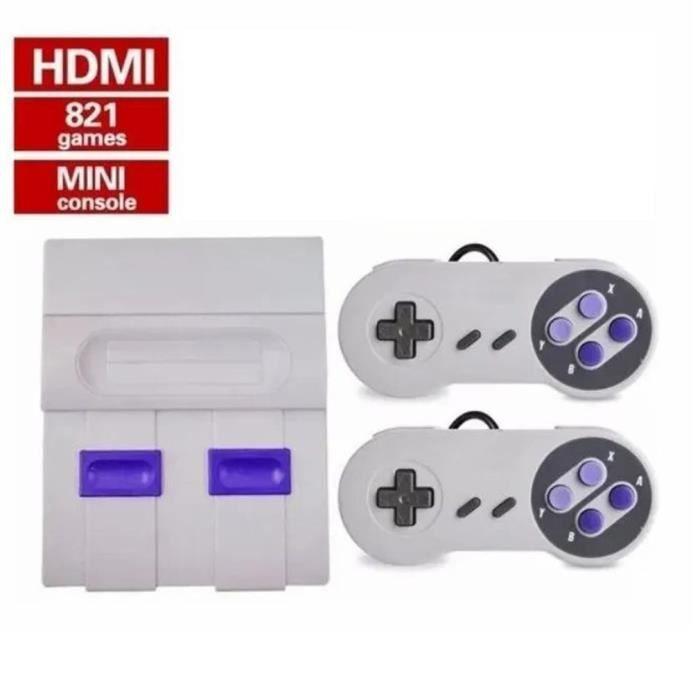 Console de jeu à la maison Sfc High Defintion Fc Console de jeu vidéo Machine rouge et blanche 821 jeux intégrés