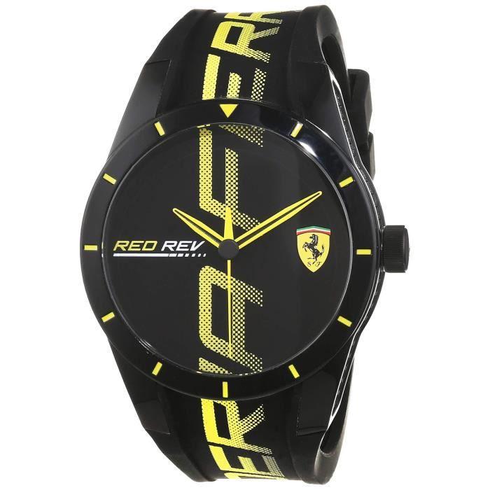 Scuderia Ferrari Hommes Analogique Quartz Montres bracelet avec bracelet en Silicone - 830615
