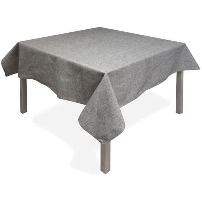 SOLEIL D'OCRE Nappe carrée Jean's - 180x180 cm - Gris