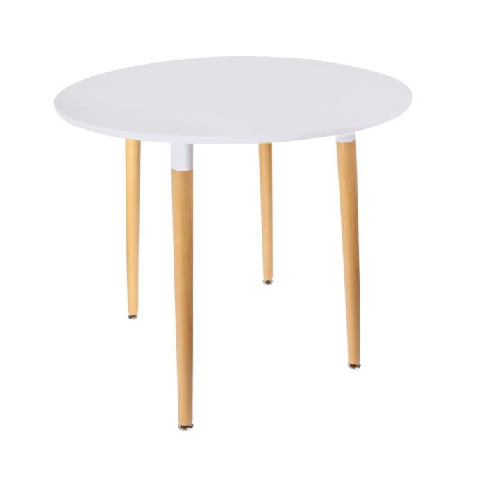 Table ronde scandinave Mobiliers Design - Blanche