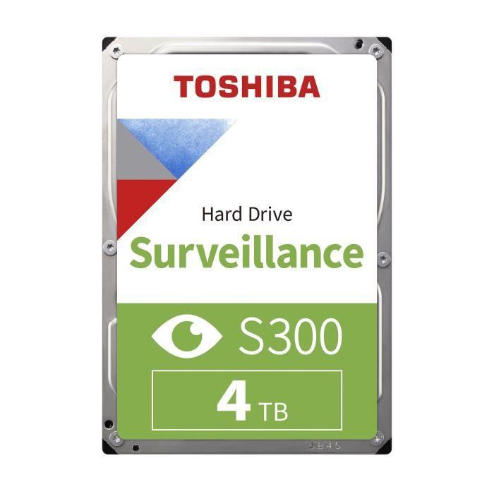 TOSHIBA - Disque dur Interne - S300 - 4To - 7 200 tr/min - 3.5- (Bulk) (HDWT140UZSVA)