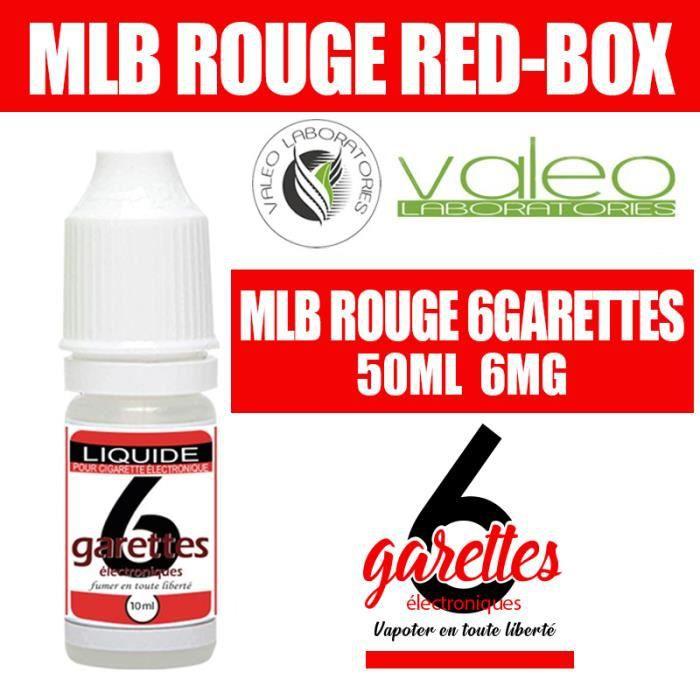E LIQUIDE 50ML – TABAC RED BOX 6mg DE NICOTINE - 6GARETTES