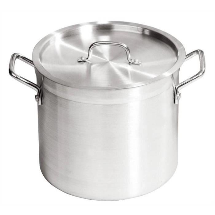 Marmite en Aluminium 20 litres avec Couvercle - Parfait pour Ragoûts et Soupes