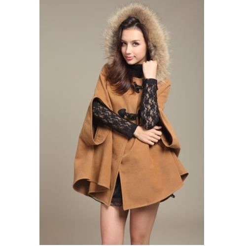 poncho cape manteau veste femme camel classerobes achat vente manteau caban poncho cape. Black Bedroom Furniture Sets. Home Design Ideas