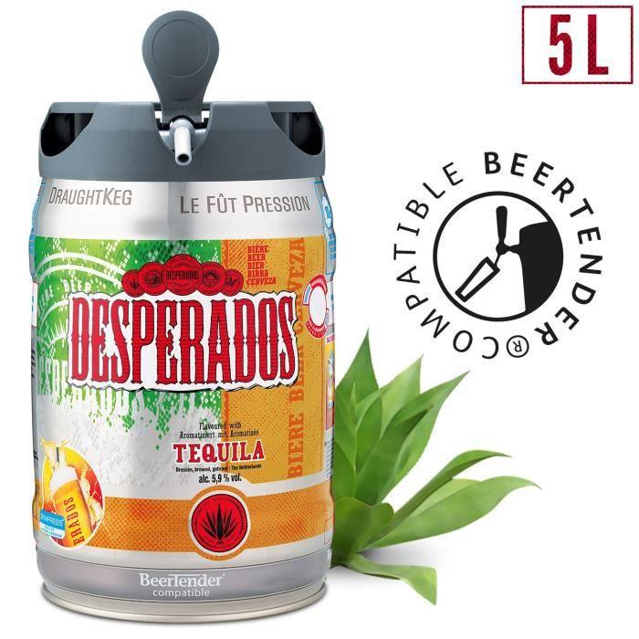 BIÈRE Desperados Tequila Bière blonde - Fût 5L compatibl