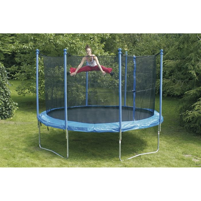 trampoline 244 cm achat vente trampoline cdiscount. Black Bedroom Furniture Sets. Home Design Ideas