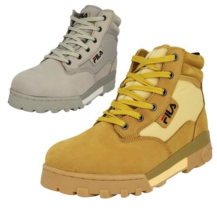 Fila GRUNGE MID Chaussures Bottines Homme Cuir Sue Marron