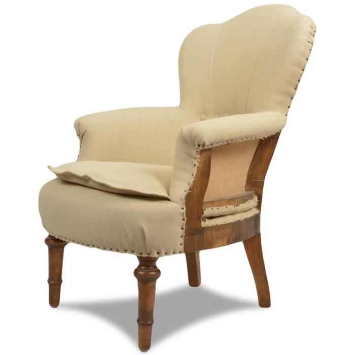 Fauteuil crapaud tissu beige replay achat vente fauteuil tissu cdiscount - Fauteuil crapaud tissu ...