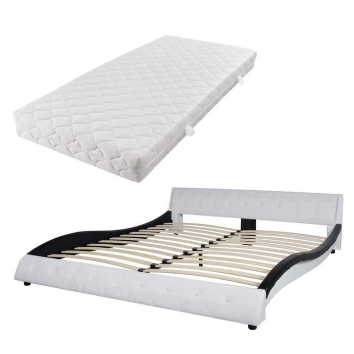lit et matelas 180x200 achat vente pas cher. Black Bedroom Furniture Sets. Home Design Ideas