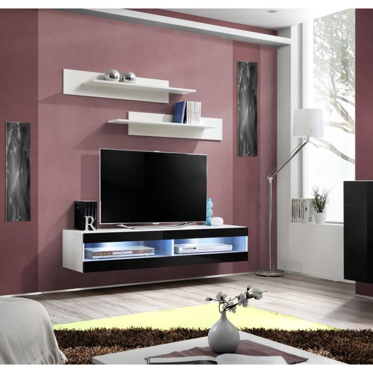 meuble tv suspendre fabulous aimetv with meuble tv suspendre meuble tv grand meuble tv. Black Bedroom Furniture Sets. Home Design Ideas