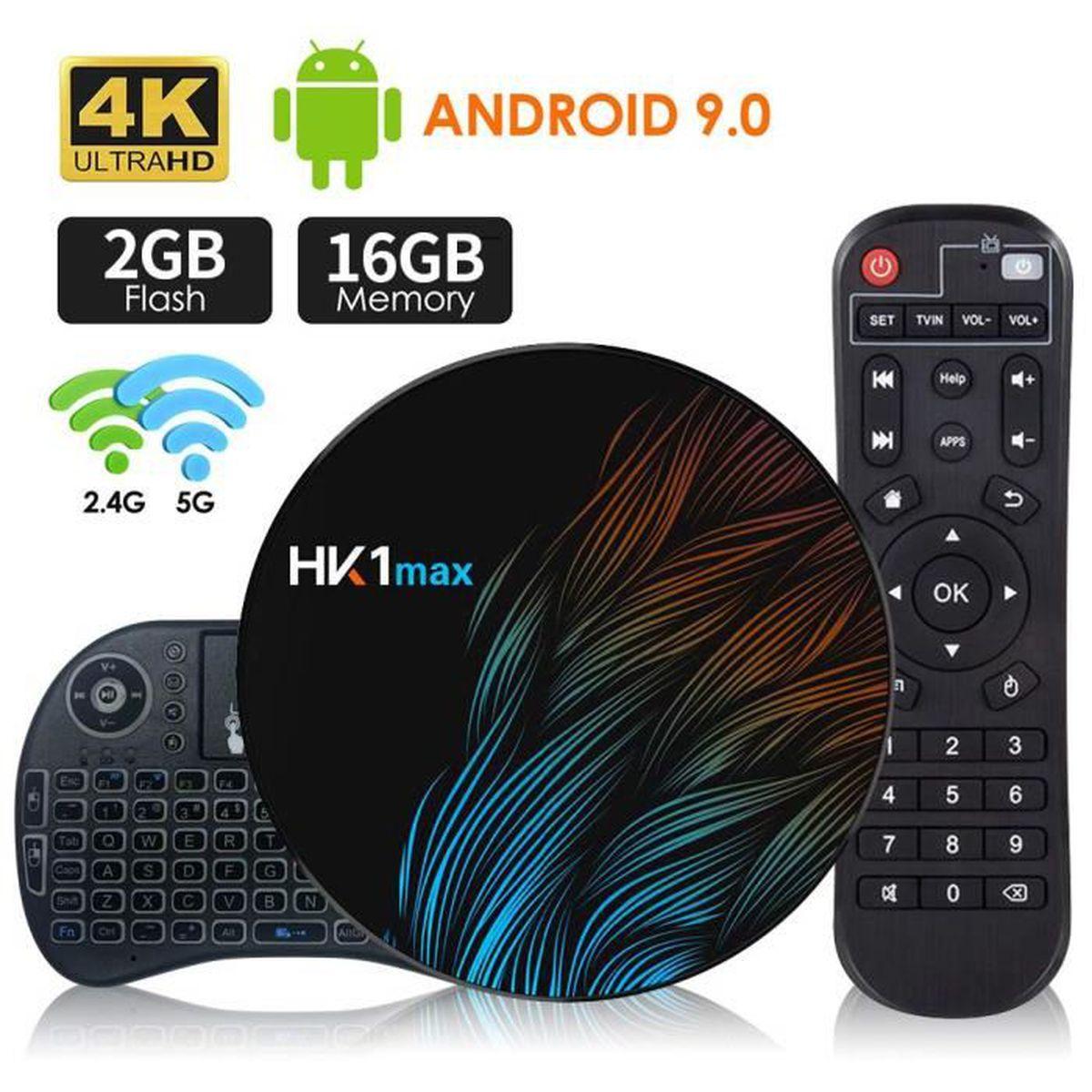 BOX MULTIMEDIA Android 9.0 Smart TV Box[2G + 16G] avec Mini-Clavi