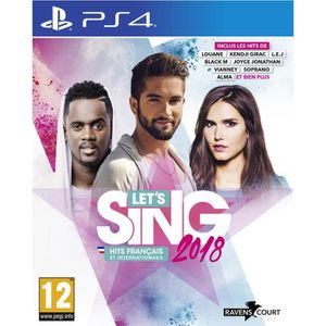 JEU PS4 Let's Sing 2018 Hits Français et Internationaux Je