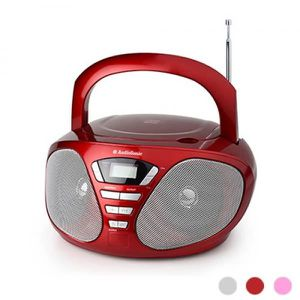 AUDIOSONIC CD-1568 Radio stéréo CD Rouge