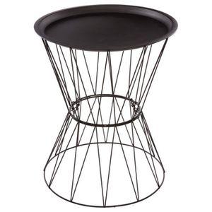 TABLE D'APPOINT Table à café Filaire Kate - Diam. 43,5 cm - Noir