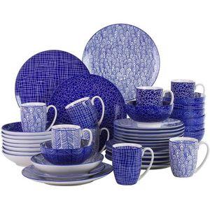 SERVICE COMPLET Vancasso TAKAKI 40pcs Service de Table Porcelaline