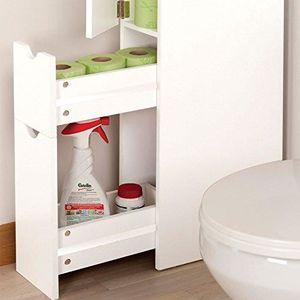 ETAGÈRE MURALE Meuble WC étagère bois gain de place pour toilette